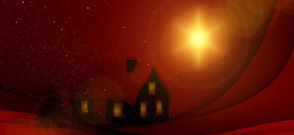 Winterliche Landschaft - Betriebsferien und Sternenlichtspaziergang zu Weihnachten