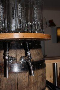 Zapfanlage der Rhönlok als Bierfaß