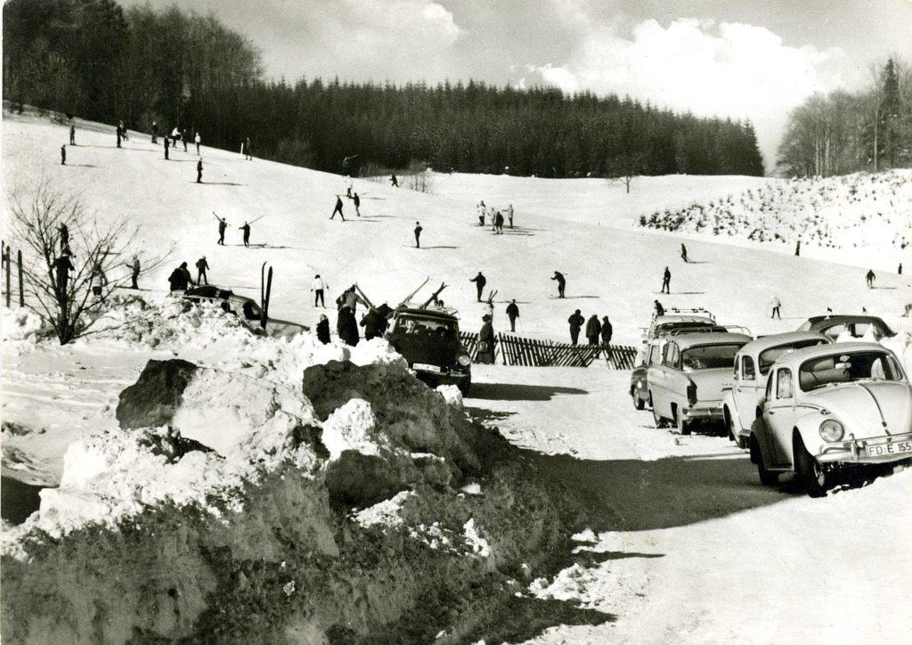 Skilift Spielberg, sehr altes Foto