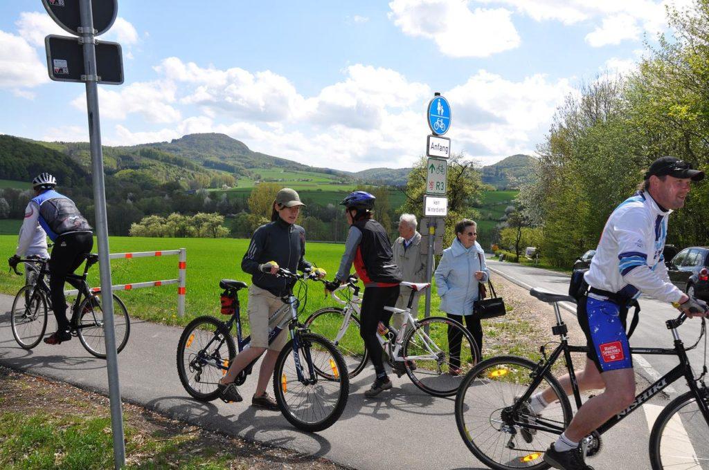 Milseburgradweg - Radfahrer