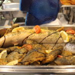 Fischbuffet - Forelle im Ganzen