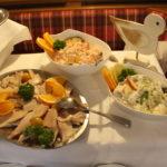 Fischbuffet - kalter fisch und Fischsalat