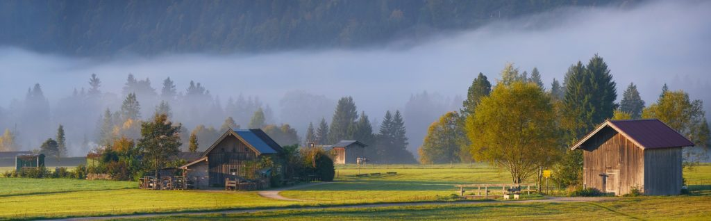 Rhön, Herbststimmung mit Nebel