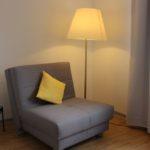 Berghof Wasserkuppe, Sessel mit Stehlampe