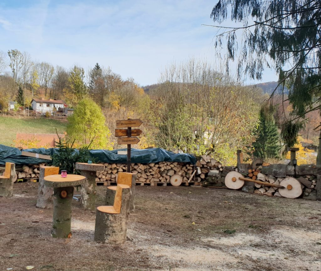 Holzlokomotive, Glühwanderung