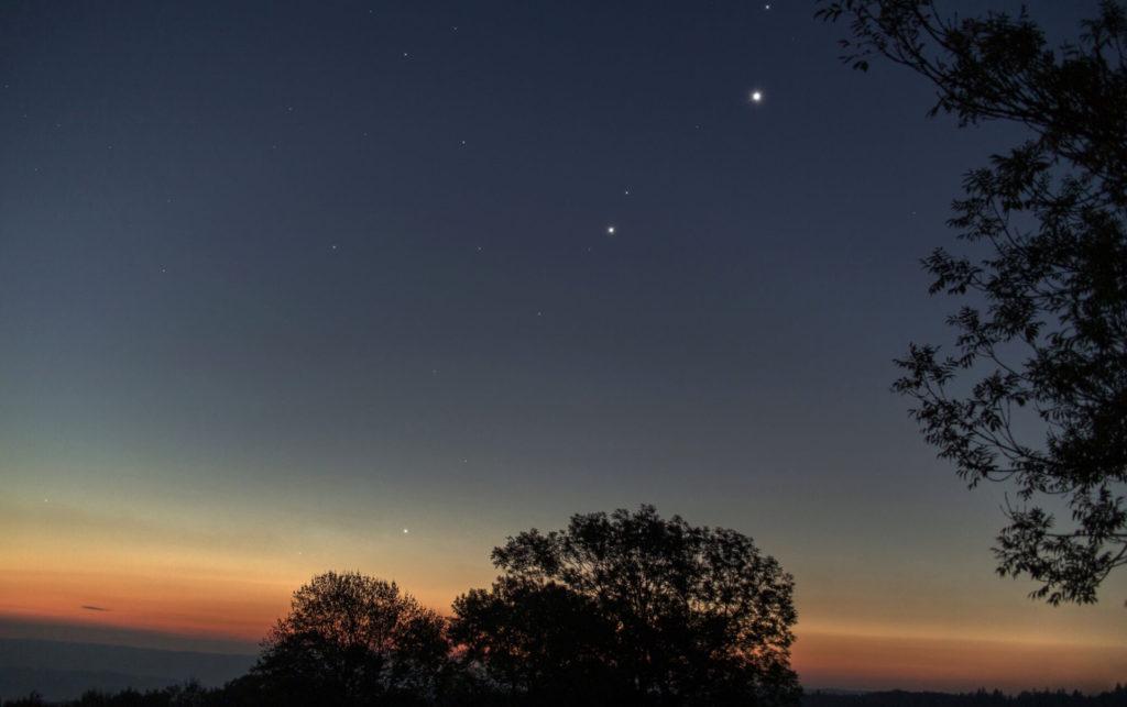Sternenlichtspaziergang - Morgenhimmel Ekliptik