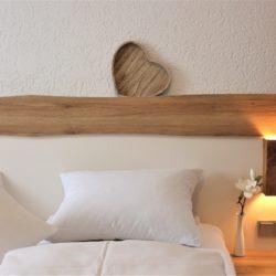Doppelzimmer Nahaufnahme vom Bett