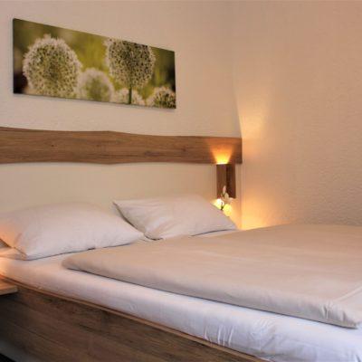 Doppelzimmer Bettansicht